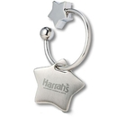 Custom KM-7035 Unique Stars Key Chain with Easy Twist On and Off
