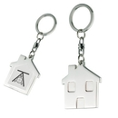 Custom KM-7049 House Shaped Key Holder In Shiny Nickel Finish Over Alloy with On The Back