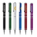 Custom PM-214 Twist Action Aluminum Ballpoint Pen Bright, Colorful Lacquer Finish Barrel with Shiny Chrome Accents