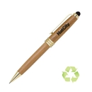 Custom PP-136P Eco Friendly Bamboo Pencil with Gold Accents