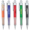 Custom PZ-30465 Click Action Ballpoint Pen, Frosted Jumble Barrel with Matte Silver Accents