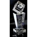 Custom A7495 The Alfa Crystal Collection, Crystal Cube Tower 9 1/2