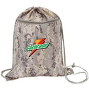 Custom BP0151CAM Digital Camo Drawstring Tote Bag w/ Zipper