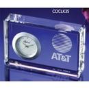 Custom COCLK35 The Alfa Crystal Clock Collection, Crystal Bullion Clock 4 1/2