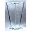 Custom CSFVS01 The Alfa Vase Award Collection, Starfire Glass Vase 7 3/4