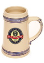 Custom 18.5 oz. Blue Deco Ceramic Beer Steins