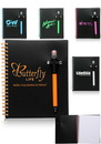 Custom 7 in. X 5.5 in. Black Neon Notebooks