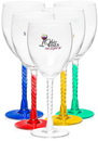 Custom 10.5 oz. Twisted Stem Wine Goblets