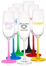Blank 7 oz. Lead Free Crystal Champagne Flutes