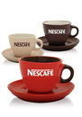 Custom 8 oz. Buzzy Cappuccino Cups And Saucers