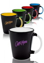 Blank 13 oz. Denia Two-Tone Latte Mugs