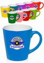 Custom 12 oz. Two Tone Bright Latte Mugs