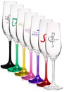 Blank 8 oz. Lead Free Crystal Champagne Glasses