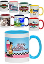 Custom 11 oz. Bright Two-Tone Sublimation Mugs