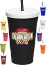 Custom 20 oz. Plastic Party Cups With Straw