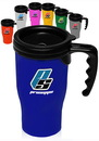 Blank 14 oz. Plastic Insulated Travel Mugs