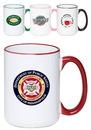 Custom 15 oz. Large Halo Coffee Mugs