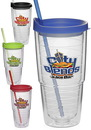 Custom 24 oz. Double Wall Solid Orbit Tumblers