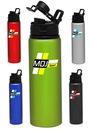 Blank 25 oz. Metallic Aluminum Water Bottles
