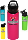 Custom 25 oz. Neon Aluminum Sports Bottles