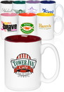 Blank 15 oz. Promotional Imprinted Ceramic Mugs