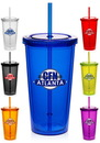 Blank 20 oz. Double Wall Acrylic Tumbler With Straw