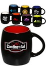 Custom 16 oz. Sleek Two Tone Barrel Mugs