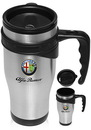 Custom 16 oz. Sporty Stainless Steel Travel Mugs