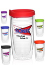 Custom 14 oz. Double Wall Color Top Acrylic Tumblers