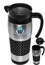 Custom 16 oz. Stainless Steel Grip Travel Mugs