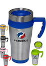 Blank 16 oz. Stainless Steel Travel Mugs With Handles