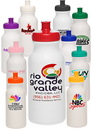 Custom 20 oz. White Super Value Sports Bottles