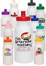 Custom 20 oz. White Super Value Sports Bottles