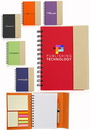 Blank 5.25 X 7 in. Eco Flip Top Notebooks With Sticky Notes