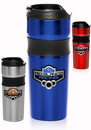 Custom 16 oz. Grip Stainless Steel Engraved Travel Mugs