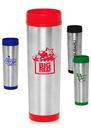 Custom 16 oz. Slim Color Top Travel Mugs