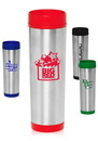 Blank 16 oz. Slim Color Top Travel Mugs