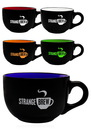 Custom 23 oz. Two Tone Soup Mugs With Handles