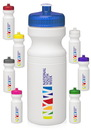 Custom 24 oz. Pet Plastic Bike Water Bottles With Push-Pull Lids