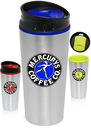 Custom 16 oz. Color Accent Travel Tumblers