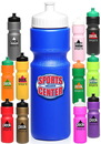 Custom 28 oz. Push Cap Plastic Water Bottles