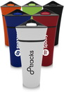 Blank 16 oz. Plastic Travel Mugs Triangular Lids