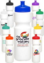 Custom 28 oz. Push Cap Plastic Water Bottles