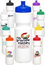 Blank 28 oz. Push Cap Plastic Water Bottles