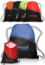 Blank 14W X 18H Two-Tone Insulated Drawstring Sports Packs