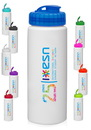 Blank 32 oz. Hdpe Plastic Water Bottles With Sipper Lids
