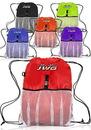 Custom 13W X 18H Drawstring Bags Mesh Pocket