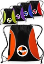Blank 13W X 15H Zipper Drawstring Backpacks