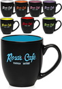 Custom 16 oz. Two Tone Bistro Mugs