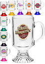 Custom 10 oz. Arc Footed Sports Glass Mugs